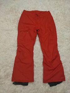 Columbia Snow pants XL Men's Red Bugaboo Omnitech EUC Skiing Snowboard