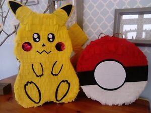 Pikachu pokemon inspired pinata pop smash birthday party boy game