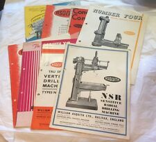 COLLECTION OF ASQUITHS BROCHURES CATELOGURES TOOL MACHINERY DRILLS X10