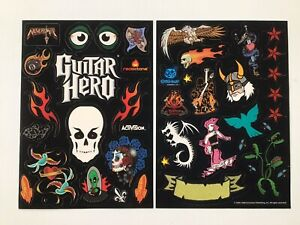 Guitar Hero Sticker Activision Redoctane New Goth Stickers Xbox 360 PS3 Wii