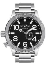 **BRAND NEW** NIXON 51-30 TIDE BLACK STAINLESS STEEL A057000