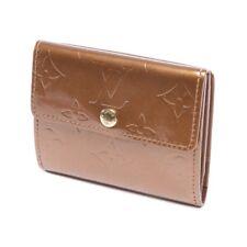 LOUIS VUITTON monedero damas marrón accesorio cartera monedero Monogram Vernis LV
