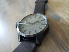 Nixon The Chronicle Magnified Mens Watch Leather Strap