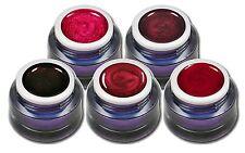 Premium Red Christmas Set 5x5ml Rote Glitter und Metallic UV Gele Weihnachten