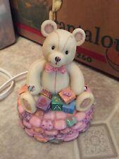 @< Teddy Bear Lamp Child Baby Nursery Decor Ceramic without Shade