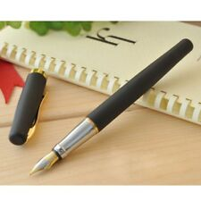 Duke 209  Fountain Pen Matte Black And Golden 22KGP M Nib For Gifts Writing New