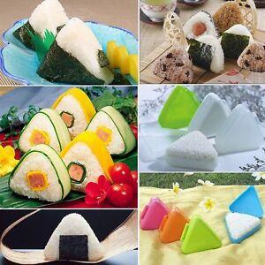 3 pks Triangle Sushi Mold Onigiri Rice Ball Bento Kitchen Tool