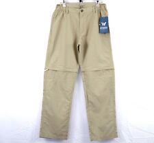 White Sierra Mens Point Convertible Pants Camping Traveling Khaki UPF 30 Medium
