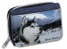 Siberian Husky Dog 'Yours Forever' Girls/Ladies Denim Purse Wallet Ch, AD-H52yJW