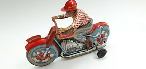 Tin Toy  Technofix Friction Motorcycle Shooting Star in Super condicio