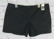 New York & Company Solid Black Shorts City Twill Vestry Street size 16 #6766 NEW