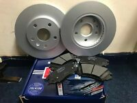 VAUXHALL INSIGNIA 2008 - 2014 FRONT BRAKE DISCS & PADS SET OE QUALITY