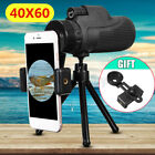40X60 Zoom Monocular Telescope Telephoto Phone Camera Lens Tripod Selfie Clip US