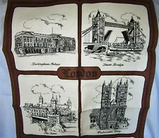 New listing Vintage Linen Blend Landmarks of London Towel Buckingham Palace Tower Bridge
