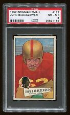 1952 Bowman Small #112 John Badaczewski *Redskins* PSA 8 NM-MT #25821165