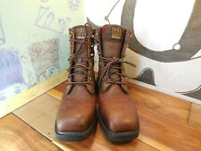 Ariat Brown Leather Lace-Up Composite Toe Work Boots Men's 8D ASTM F2413-11
