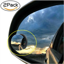 "Universal 2 Pcs 2"" Wide Angle Convex Rear Side View Blind Spot Mirror for Car"