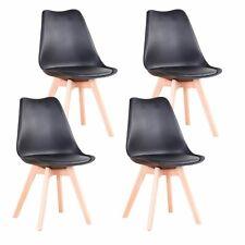 4× Sillas De Madera Salón Comedor Retro Sillas de Oficina en Casa Negro