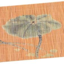 Place Mats Famibay Tea Placemats Heat Resistant Non Slip Rectangle Bamboo Lin