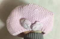 béret chapeau bonnet rose pale H&M 2-6 mois   (B8)