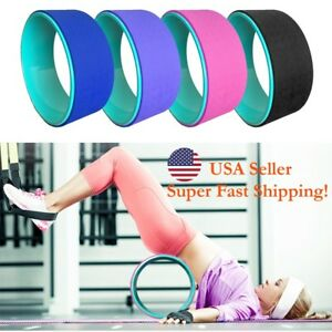 New TPE Yoga Wheel Comfortable Stretching Relaxation Relieves Pain Yoga Wheel