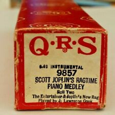 More details for qrs pianola instrumental  roll: scot joplin's ragtime piano medley roll 2