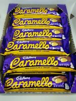 Cadbury Caramello 1.6 oz, Milk Chocolate & Creamy Carmel,  Full Box of 18 Bars