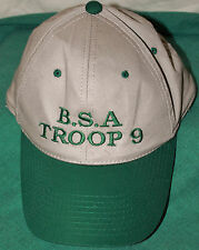 LOT of *2*  NEW~BOYS~MENS~OFFICIAL BOY SCOUTS~BSA~TROOP 9~ CAPS HATS~TWILL