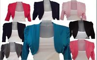 KIDS GIRLS  KIDS NEW PLAIN RUSHED 3/4 SLEEVE BOLERO SHRUG CARDIGAN TOP size 1-13