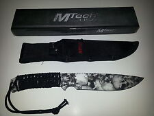 """MTech """"Tomb Raider"""" Survival Knife- Grey New MT611GY"""