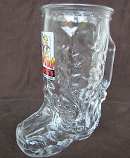 Vintage Libbey of Canada Clear Glass Beer Mug Cowboy Cowgirl Boot with Spurs