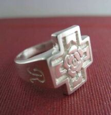 Solid silver Rosicrucian ring for ladies and mens - 24131-P