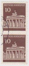 (G602) 1966 GERMAN 10pf brown pair Berlin ow1412