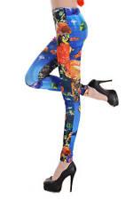 Colorful Underwater Print Footless Leggings 1 Pair OSFM Style # 79245