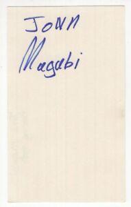 John Mugabi - Champion Boxer - Autographed 3x5 Card