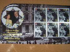 KIRIBATI,2007 DIAMOND WEDDING OF QE11,$1 VALUE X 6 IN U/M SHEETLET,CAT £12.