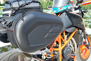 Universal fit Motorcycle Pannier Bags Luggage Saddle Bags & Rain Cover 36-58L