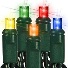 Multi-color LED Mini Christmas Lights Wide Angle 5mm Lights Set Of 70 24 ft
