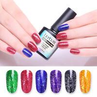 LILYCUTE 8ml Jelly Flakies Gel Polish Soak Off Sequins UV Nail Art Gel Varnish