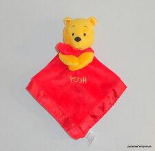 Disney Winnie the Pooh Red Baby Security Comforter Blanket Velour Satin Nunu P68