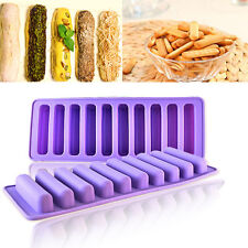 Silicone Cookie Cupcake Bake Bread Ice Tray Mold Tool Lady's Finger Stick Shape