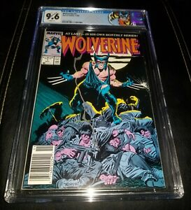 WOLVERINE #1 (1988 Marvel Comics) CGC GRADED 9.6 NM+ NEWSSTAND 1st Ongoing