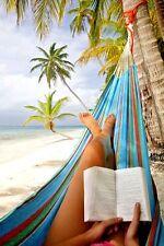 DOUBLE HAMMOCK 2 PERSON SWING HANGING PARACHUTE BEACH BED HANDMADE OTAVALO 300lb