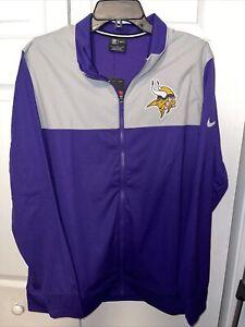 Nike Minnesota Vikings NFL Coaches Sideline Full Zip Jacket Sz Large NKB6-008Y