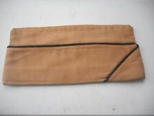 Original Tan (Pink) Wool WWII Army Officer Garrison Hat, Black and Gold Piping