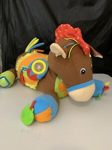 """Melissa & Doug Giddy Up Pony Large Sensory Plush Horse K's Kids Ride On 28"""" Toy"""