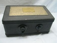 Vintage Atwater Kent model 42 Tube Radio Receiver Metal Coffin Case