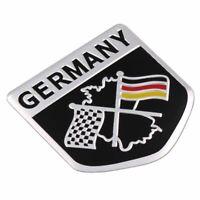 Metal Aluminium Car Emblem Germany Flag Grille Badge Sticker Racing Motorsport