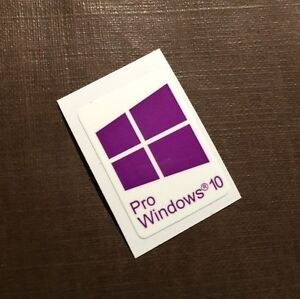 1 PCS Windows 10 Pro Sticker Badge Logo Decal Purple Color Win 10 USA SELLER
