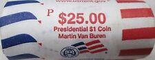 "2008 P Martin Van Buren Presidential ""Unopened"" Mint Dollar 25 Coin ROLL"